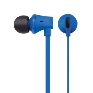 AT&T EBM03-BLU JIVE Noise Isolating Earbuds with In-line Microphone (Blue)