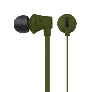 AT&T EBM03-GRN JIVE Noise Isolating Earbuds with In-line Microphone (Green)