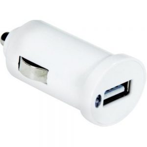 NXG Technology NXCHARGERCAR24A Compact USB Car Charger - 2.4 A - 12 Watts - White