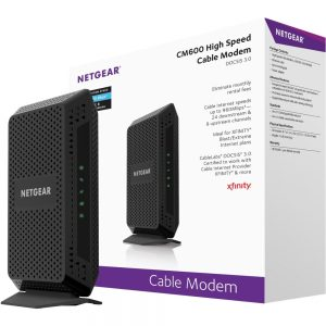 Netgear High Speed Cable Modem - 1 x Network (RJ-45) - 960 Mbit/s Broadband - Gigabit Ethernet - Desktop