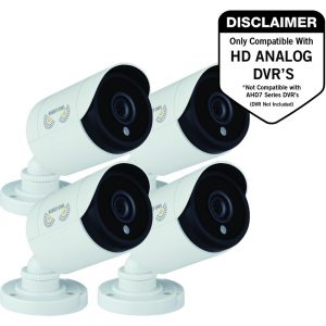 Night Owl CM-HDA10W-BU 2 Megapixel Surveillance Camera - 4 Pack - Bullet - 100 ft Night Vision - 1920 x 1080 - Ceiling Mount