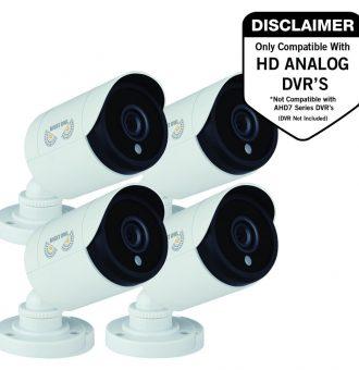 Night Owl CM-HDA10W-BU 2 Megapixel Surveillance Camera - 4 Pack - Bullet - 100 ft Night Vision - 1920 x 1080 - Ceiling Mount