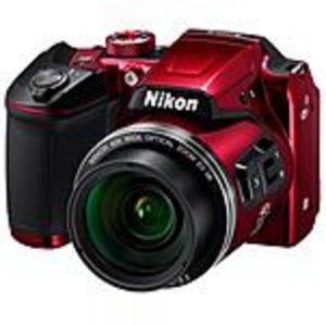 Nikon 26508 Coolpix B500 16 Megapixel Compact Camera - Red - 3-inch LCD - 16:9 - 40x Optical Zoom - 4x - Optical (IS) - TTL - 4608 x 3456 Image - 1920 x 1080 Video - HDMI - HD Movie Mode - Wireless LAN