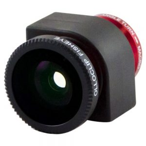 Olloclip FishEye/WideAngle/Macro 3-in-1 Lens for iPhone 4/4S - Red - OC-IPH4-FWM-R