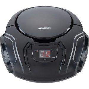 SYLVANIA SRCD261-B-BLACK Portable CD Player with AM/FM Radio (Black)