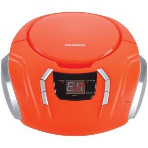 SYLVANIA SRCD261-B-ORANGE Portable CD Player with AM/FM Radio (Orange)