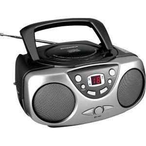 SYLVANIA SRCD243M-BLACK Portable CD Boom Boxes with AM/FM Radio (Black)