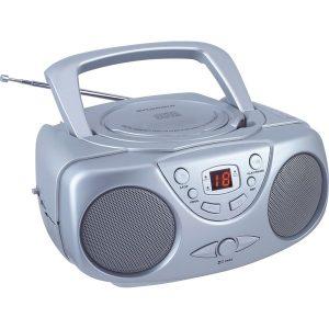 SYLVANIA SRCD243M-SILVER Portable CD Boom Box with AM/FM Radio (Silver)