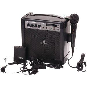 Pyle Pro PWMA220BM Portable Bluetooth Karaoke PA Amp & Microphone System