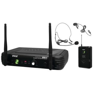 Pyle Pro PDWM1904 Premier Series Professional UHF Wireless Microphone System with 2 Body Packs