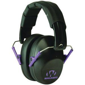 Walker's Game Ear GWP-FPM1-BKPU PRO Low-Profile Folding Muff (Black/Purple)