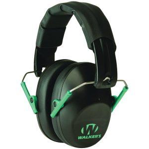 Walker's Game Ear GWP-FPM1-BKTL PRO Low-Profile Folding Muff (Black/Teal)