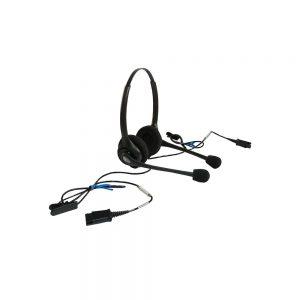 Plantronics Dual HW251NC Supraplus Wideband Headset Black 92715-01