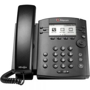 Polycom VVX 300 IP Phone - 6 x Total Line - VoIP - Speakerphone - 2 x Network (RJ-45) - PoE Ports