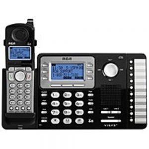 RCA RCA-25212 DECT 6.0 2-Line Expandable Cordless Phone System - Black