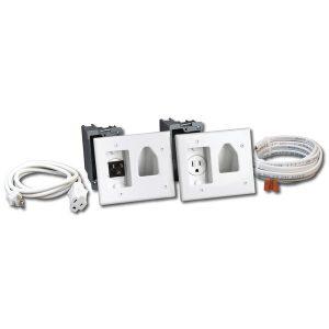 DataComm Electronics 50-3323-WH-KIT Recessed Pro-Power Kit