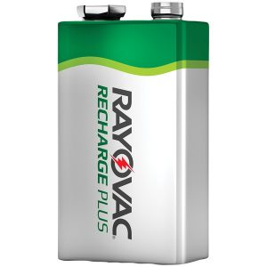 RAYOVAC PL1604-1 GENB Ready-to-Use NiMH Rechargeable Batteries (9V; 200mAh