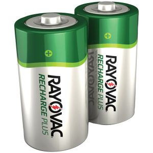 RAYOVAC PL714-2 GENB Ready-to-Use NiMH Rechargeable Batteries (C; 2 pk; 3