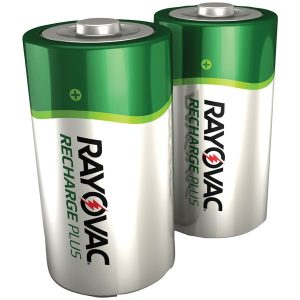 RAYOVAC PL713-2 GENB Ready-to-Use NiMH Rechargeable Batteries (D; 2 pk; 3