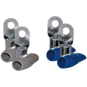 "DB Link RT0B 0-Gauge 5/16"" Nickel-Plated Ring Terminals"