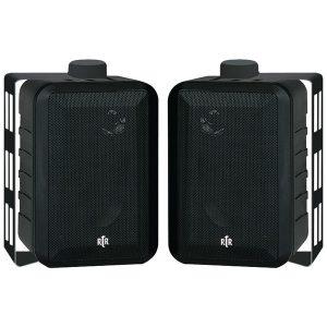 BIC America RTRV44-2 100-Watt 3-Way 4-Inch RtR Series Indoor/Outdoor Speakers (Black)