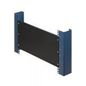 Rack Solutions 1U Filler Panel with Stability Flanges - Steel - Black - 1 Pack