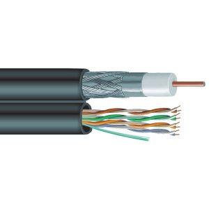 Vextra V6C5E Siamese RG6 Coaxial/CAT-5E Cable