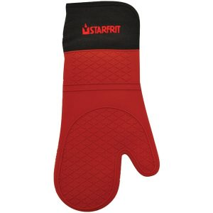 """Starfrit 93470-006-0000 15"""" Silicone Oven Glove with Cotton Liner"""