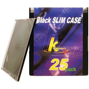 Khypermedia K-CDPSSBK-25P Slim Jewel Cases