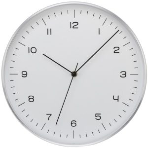 Timekeeper 668025 Silver Fine Line Clock