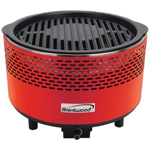 Brentwood Appliances BBF-21R Round Nonstick Smokeless Portable BBQ