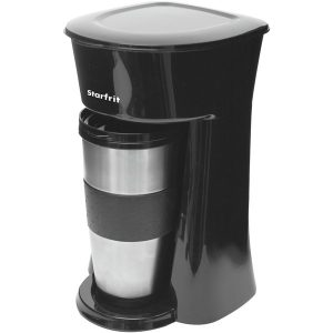 Starfrit 024002-004-0000 Single-Serve Drip Coffee Maker with Bonus Travel Mug