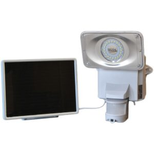 MAXSA Innovations 44642-CAM-WH Solar-Powered Security Video Camera and Floodlight