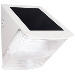 MAXSA Innovations 40234 Solar-Powered Motion-Activated Wedge Light (White)