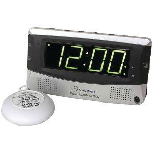 Sonic Alert SBD375ss Sonic Bomb Dual Alarm Clock with Super Shaker