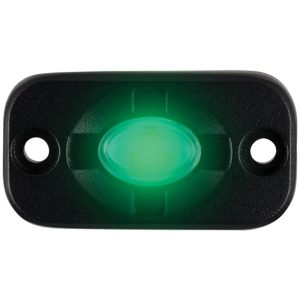 Heise LED Lighting Systems HE-TL1G 1.5-Inch by 3-Inch Aux Lighting Pod (Green)