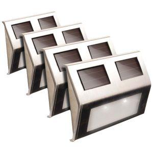 MAXSA Innovations 47334-SS Solar Deck Lights
