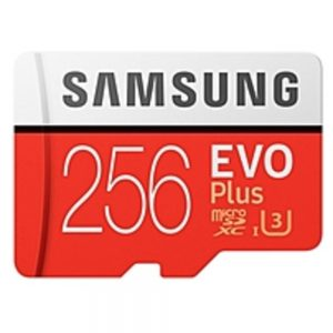 Samsung EVO Plus 256 GB microSDXC - Class 10/UHS-I (U3) - 100 MB/s Read - 90 MB/s Write