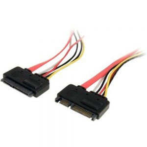 StarTech.com 12in 22 Pin SATA Power and Data Extension Cable - SATA for Hard Drive - 12.01 - 1 Pack - 1 x Male SATA - 1 x Female SATA - Red