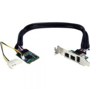 StarTech.com 3 Port 2b 1a 1394 Mini PCI Express FireWire Card Adapter - FireWire adapter - PCIe Mini Card - FireWire 800 - 2 ports + 1 x FireWire
