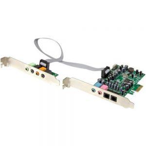 StarTech.com 7.1 Channel Sound Card - PCI Express - 24-bit - 192KHz - 7.1 Sound Channels - Internal - C-Media CM8828 - PCI Express x1 - 92 dB - S/PDIF Out