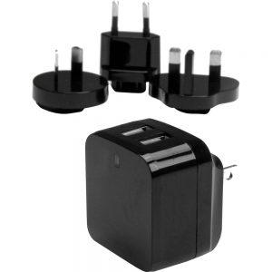 StarTech.com Dual Port USB Wall Charger - High Power (17 Watt / 3.4 Amp) - Travel Charger (International) - 17 W Output Power - 120 V AC
