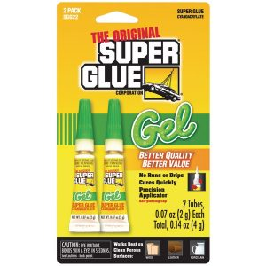 The Original SuperGlue SGG22-12 Thick-Gel Super Glue Tube (Double Pack)