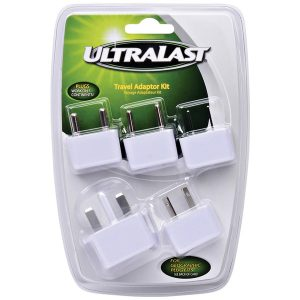 Ultralast ULTA5 International Travel AC Adapter Kit