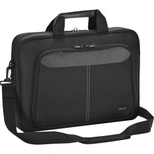 Targus Intellect TBT240US Carrying Case (Sleeve) for 15.6 Notebook - Black - Nylon - Shoulder Strap - 14.3 Height x 15.8 Width x 3.8 Depth