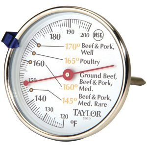 Taylor Precision Products 5939N Meat Dial Thermometer