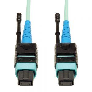 Tripp Lite N846-01M-24-P MTP/MPO Patch Cable 100GBASE-SR10 Cxp 24 Fiber 100GbE 3ft