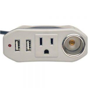 Tripp Lite PV100USB Ultra-Compact 120 V/2-USB Car Charger - Black