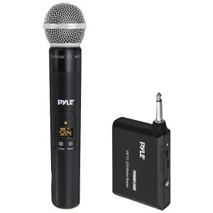 Pyle PDWM13UH UHF Wireless Microphone System with Handheld Microphone