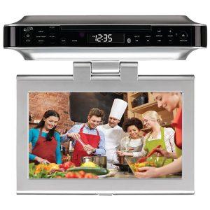 "GPX IKTD1037S 10"" Under-Cabinet DVD/CD Bluetooth Player with FM Radio"